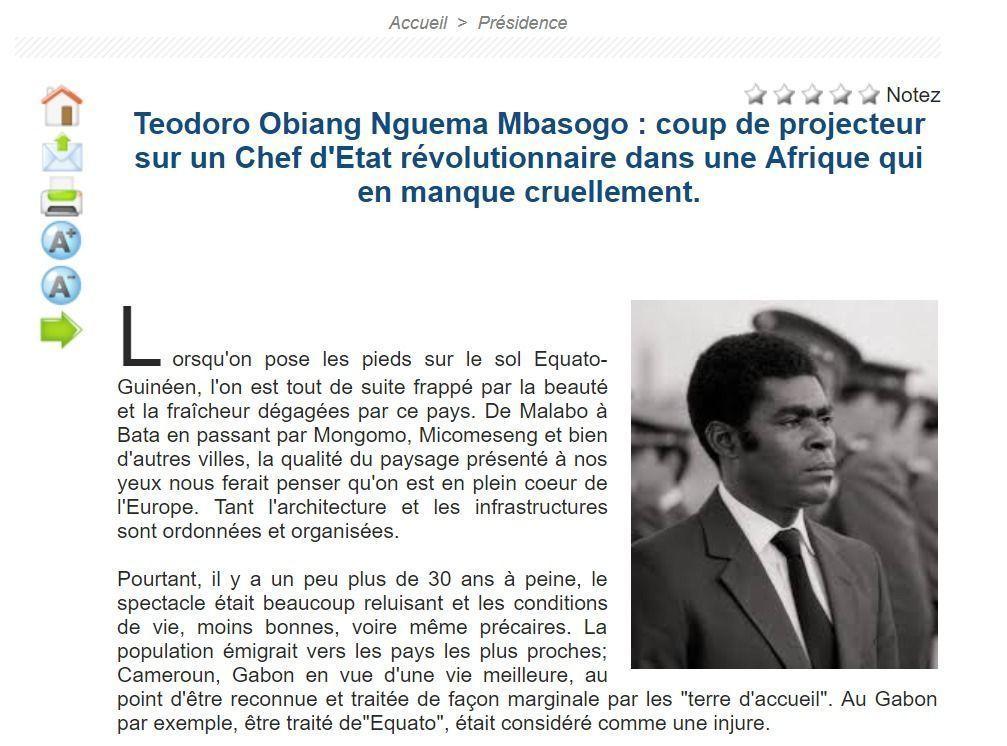 Teodoro Obiang: un Presidente revolucionario en África