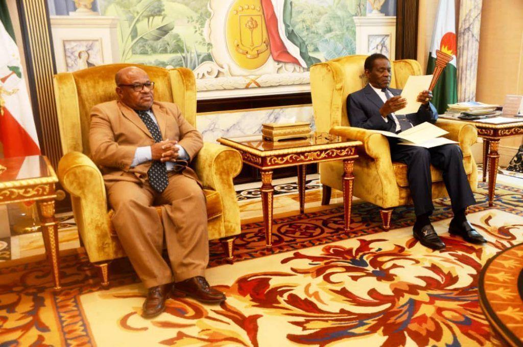 El Presidente recibe al enviado especial de las Islas Comoras