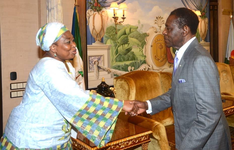 El Jefe de Estado recibe a la Comisaria de Asuntos Políticos de la UA