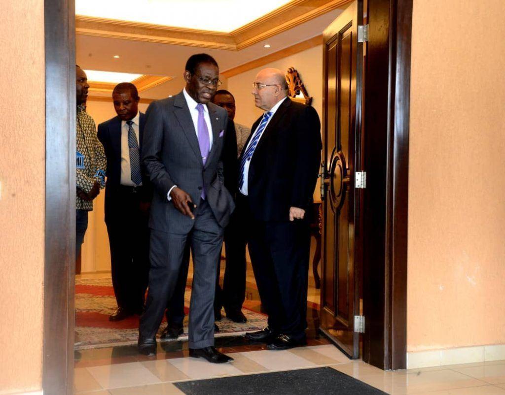 El Jefe de Estado visita los palacios presidenciales de Sipopo
