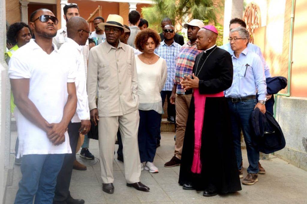 El Jefe de Estado visita de nuevo la Catedral de Malabo