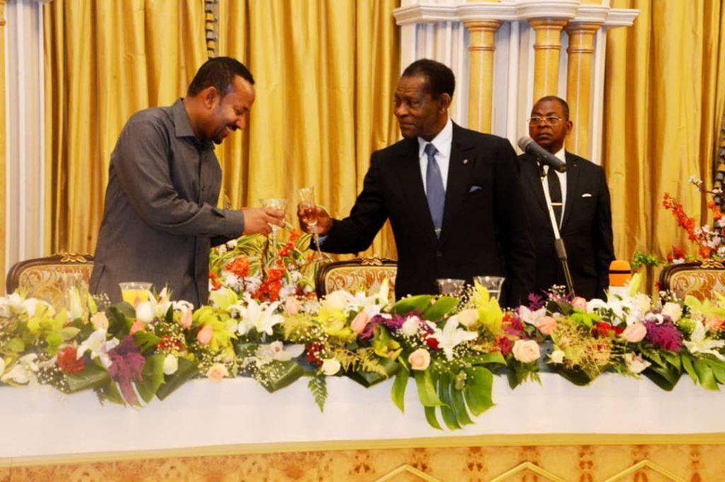 El Primer Ministro Etíope y Premio Nobel de la Paz 2019 visita Guinea Ecuatorial