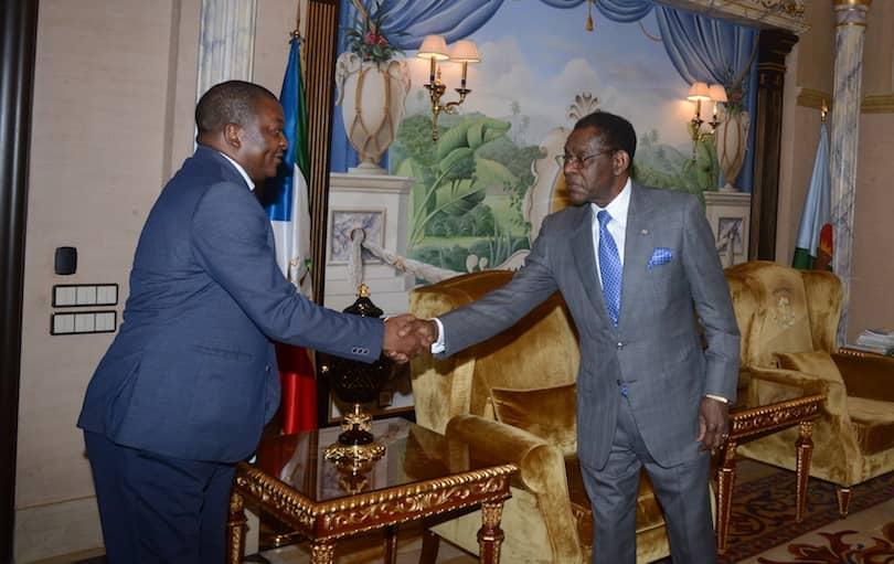 El Jefe de Estado concede audiencia al nuevo líder de Acción Popular de Guinea Ecuatorial