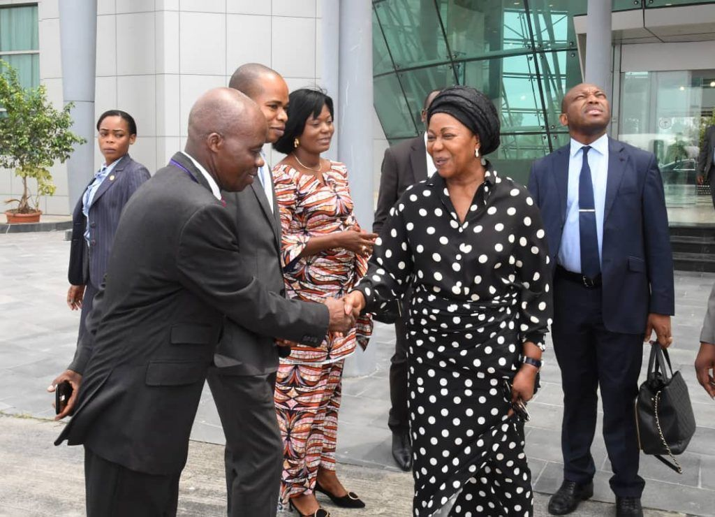Despedida de las Primeras Damas de Nigeria y República del Congo