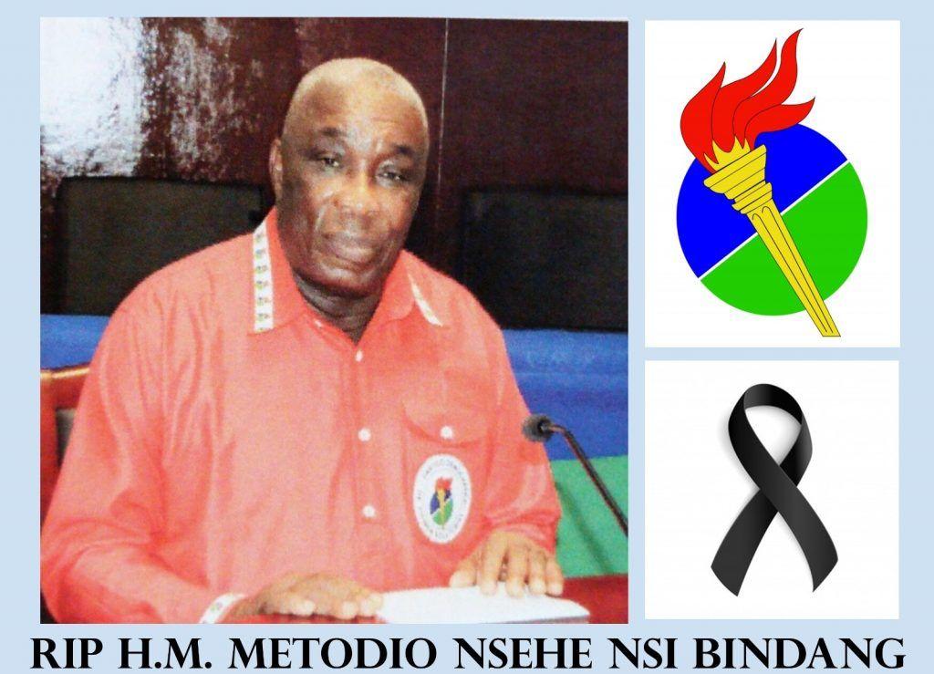 Mensaje de Condolencia por el fallecimiento del H.M. Metodio Nsehe Nsi Bindang