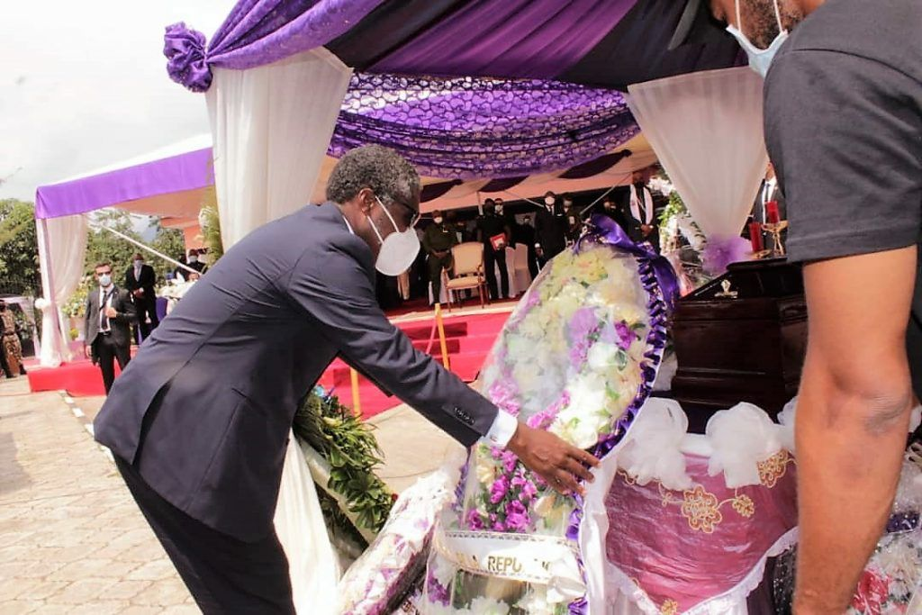 El Vicepresidente asiste al funeral y entierro del Excmo. Sr. D. Santiago Nsobeya Efuman