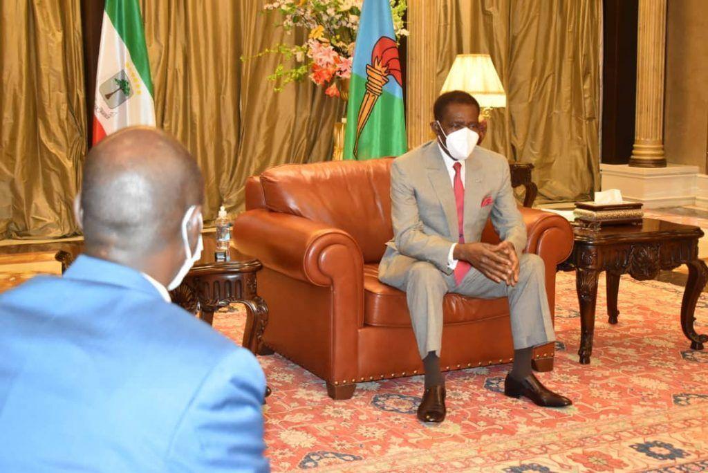 Reunión del Jefe de Estado con el Gobernador del BEAC