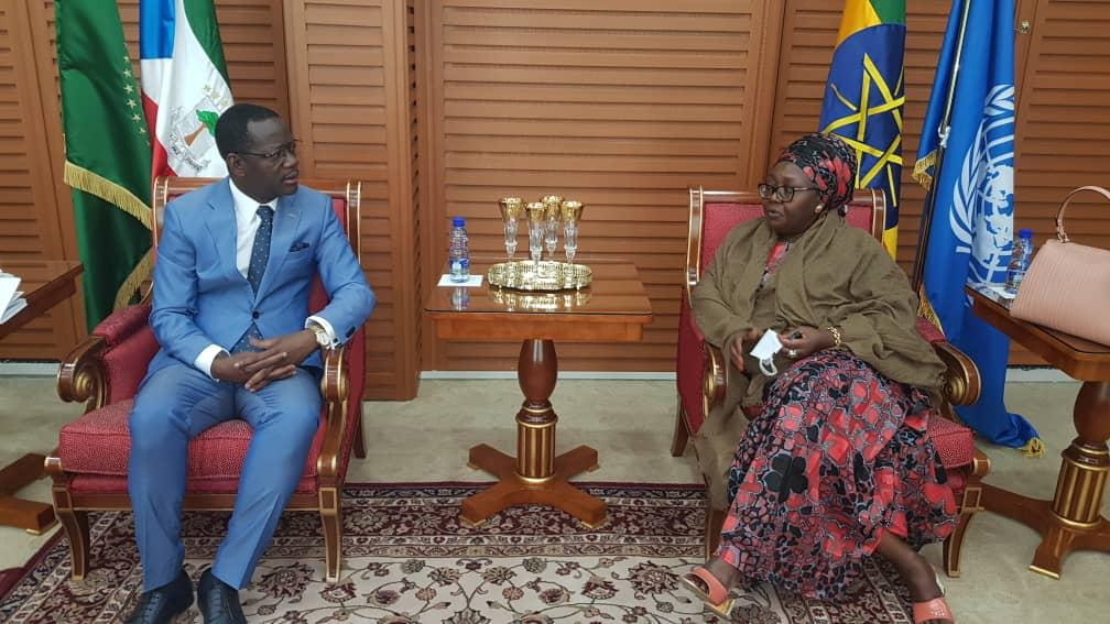 El Embajador en Etiopía se reúne con la Secretaria Ejecutiva de CISSA
