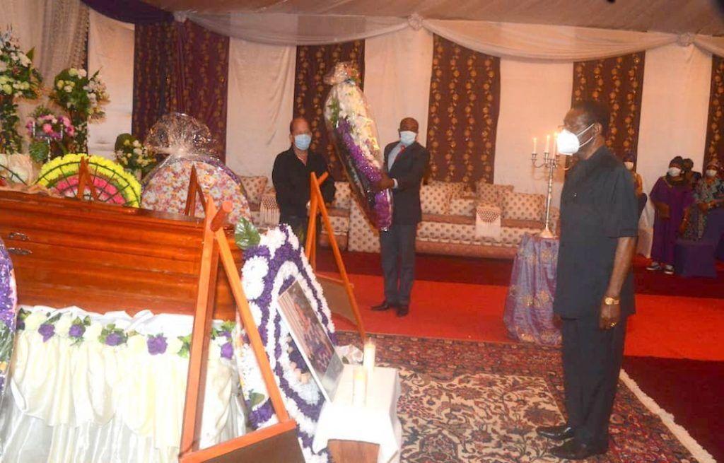 El Presidente asiste a los funerales de su hermana Carmen Mbasogo Nguema
