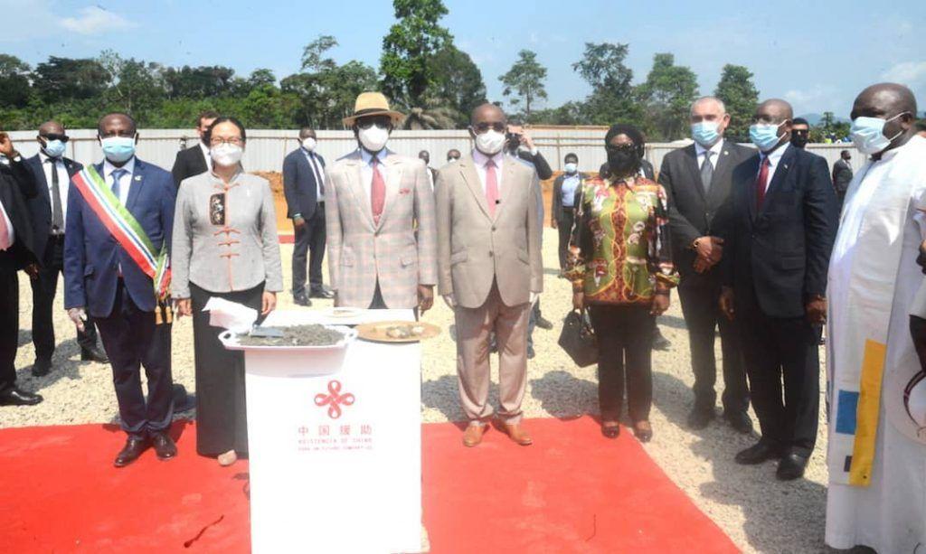 El Jefe de Estado preside la puesta de primera piedra para el Hospital Central de Niefang