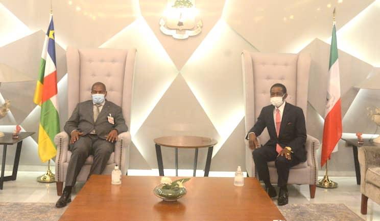 El Jefe de Estado recibe al Presidente de la República de Centroáfrica
