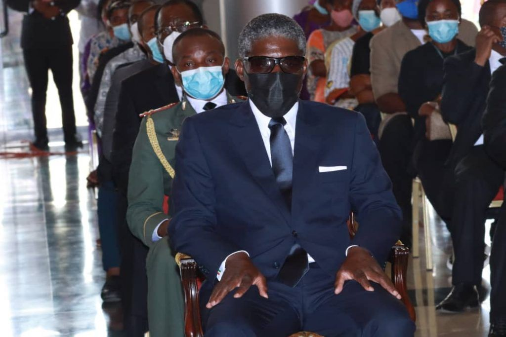 El Vicepresidente y el cuerpo castrense despiden al Excmo. D. Pedro Ndong Obiang
