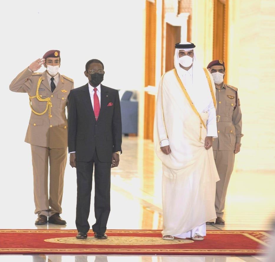 Encuentro entre el Emir de Qatar y S.E. Obiang Nguema Mbasogo