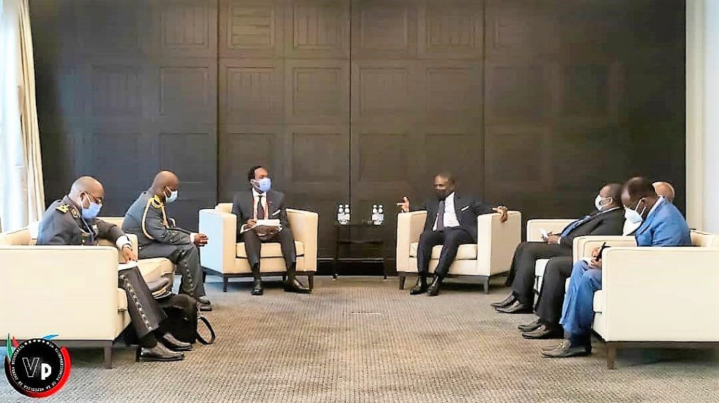 Encuentro entre el Vicepresidente y el Ministro Delegado de Defensa de Camerún