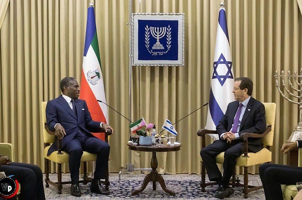 El Presidente de Israel recibe a S.E. Teodoro Nguema Obiang Mangue