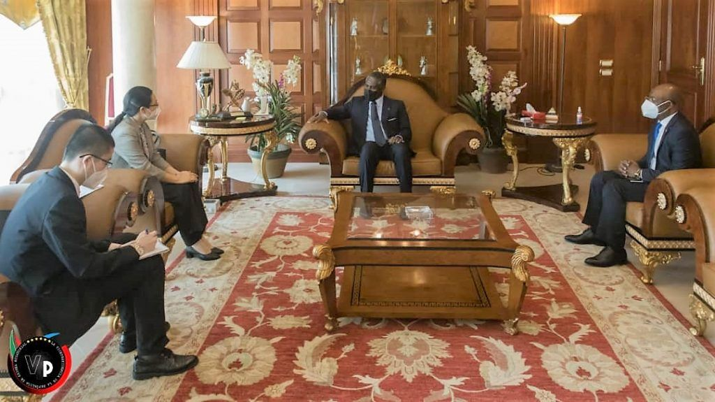 Encuentro entre Nguema Obiang Mangue y la Embajadora de la República Popular China