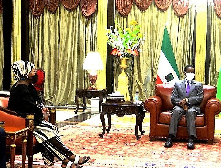 El Jefe de Estado recibe a la Secretaria Ejecutiva de la CISSA
