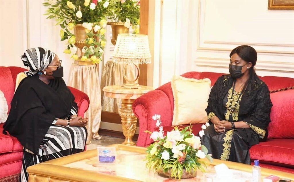 La Primera Dama recibe a la Secretaria Ejecutiva de los Servicios de Inteligencia y Seguridad de África