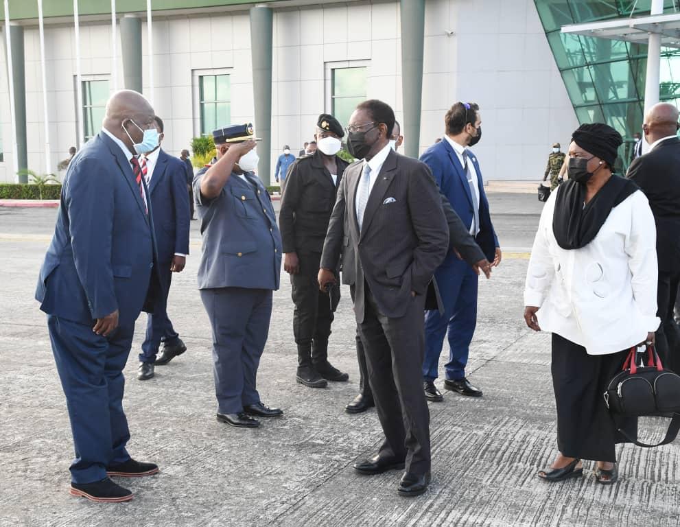 Regreso de la pareja presidencial a Malabo
